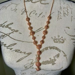INC Rose Gold Crystal Encrusted Necklace